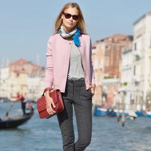 J Crew Merino wool zipper sweater-jacket size S